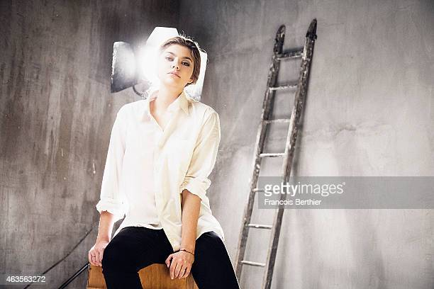 Actress and singer Louane Emera is photographed for Self Assignment on January 13 2015 in Paris France