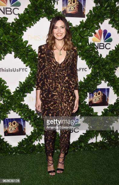 Actress and singer Mandy Moore arrives at 20th Century Fox Television and NBC's 'This Is Us' FYC screening and panel at The Theatre at Ace Hotel on...