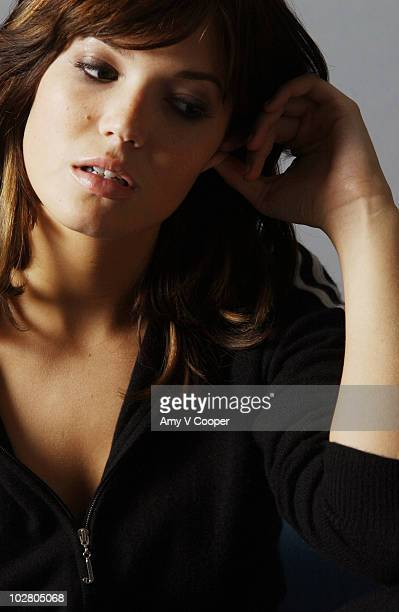 Actress and singer Mandy Moore poses at a portrait session for MTVcom on November 11 2005 in New York City