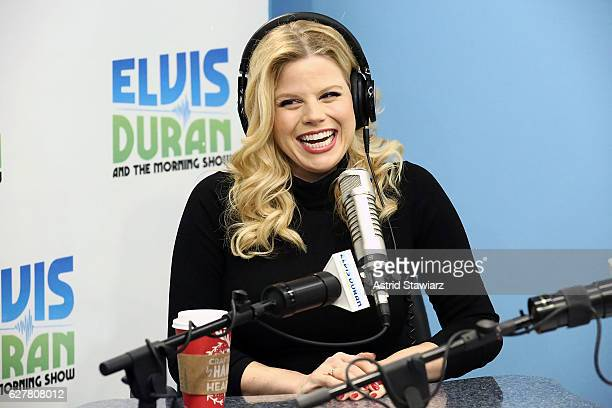 Actress and singer Megan Hilty visits 'The Elvis Duran Z100 Morning Show' on December 5 2016 in New York City