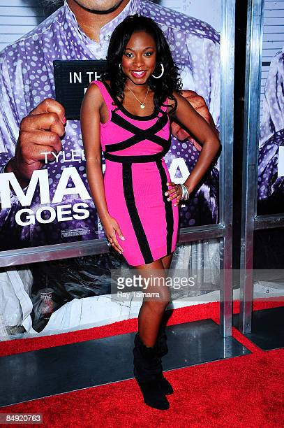 Actress and singer Naturi Naughton attends a screening of Tyler Perry's Madea Goes to Jail at the AMC Loews Lincoln Center on February 18 2009 in New...