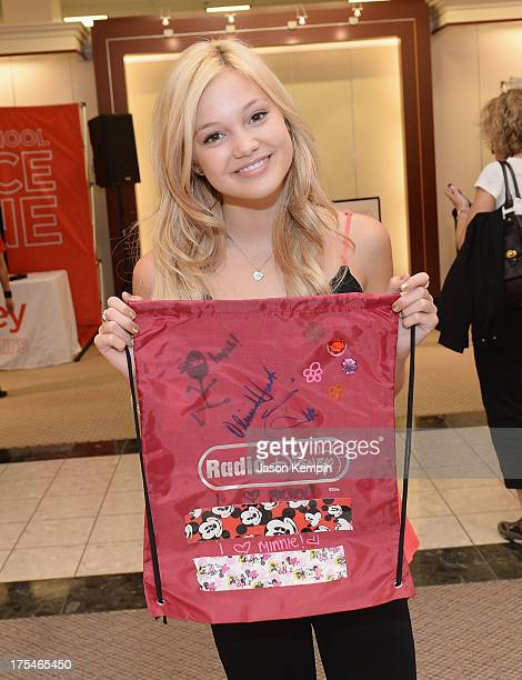 """Actress and singer Olivia Holt from Disney Channel's """"Kickin' It"""" joined Radio Disney at jcpenney to celebrate Back-To-School at jcp #MakeItYours at..."""