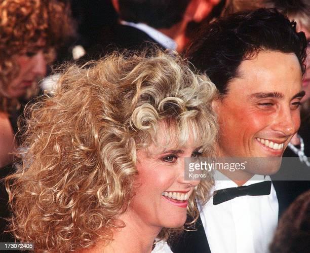Actress and singer Olivia Newton-John with her husband, actor Matt Lattanzi, circa 1990.