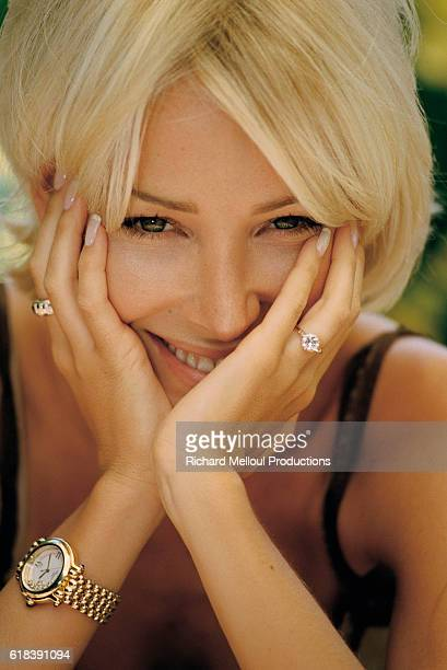 Actress and singer Ophelie Winter is in Cannes for the 1998 Cannes Film Festival