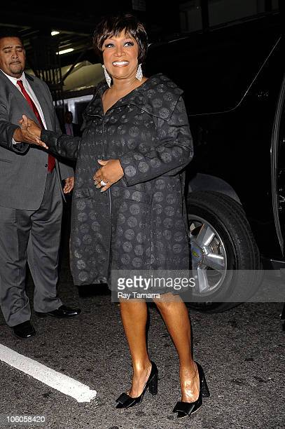 Actress and singer Patti LeBelle enters the Ziegfeld Theater on October 25 2010 in New York City