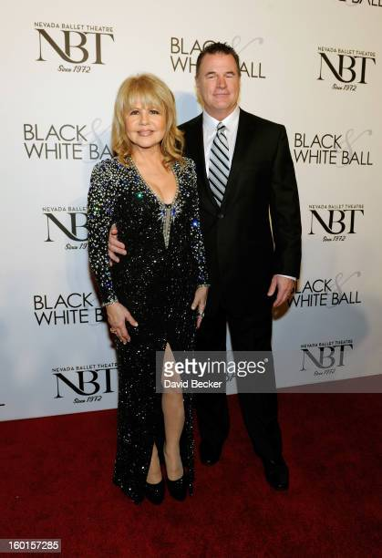 Actress and singer Pia Zadora and Michael Jeffries arrive at Nevada Ballet Theatre's 29th Annual Woman Of The Year Black White Ball at the Bellagio...