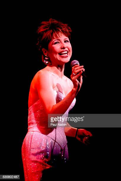 Actress and singer Pia Zadora performs onstage Chicago Illinois August 2 1986