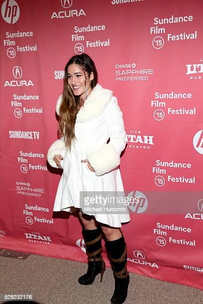 Actress and singer Q'orianka Kilcher attends the 'Last Days in the Desert' premiere at the 2015 Sundance Film Festival