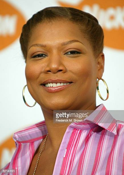 Actress and singer Queen Latifah poses backstage at Nickelodeon's 17th Annual Kids' Choice Awards at Pauley Pavilion on the campus of UCLA April 3...