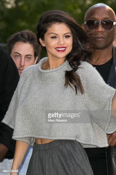 Actress and singer Selena Gomez arrives at 'NRJ' radio studios on September 28, 2015 in Paris, France.