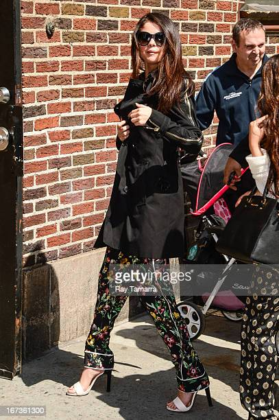 Actress and singer Selena Gomez enters the 'Late Show With David Letterman' taping at the Ed Sullivan Theater on April 24 2013 in New York City