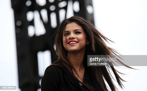 Actress and singer Selena Gomez performs onstage at the Microsoft Store grand opening in Costa Mesa California on Saturday March 26 2011 Gomez stars...