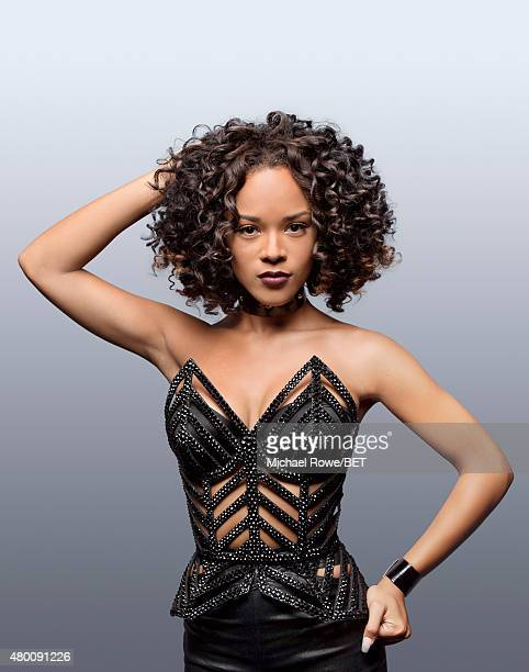 Actress and singer Serayah poses for a portrait at the 2015 BET Awards on June 28 2015 at the Microsoft Theater in Los Angeles California