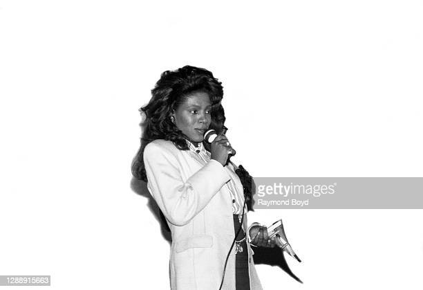 Actress and singer Sheryl Lee Ralph addresses an audience during a special screening of her film, 'The Mighty Quinn' at the Hyde Park Theater in...