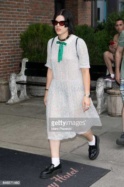 Actress and singer SoKo is seen on September 13 2017 in New York City