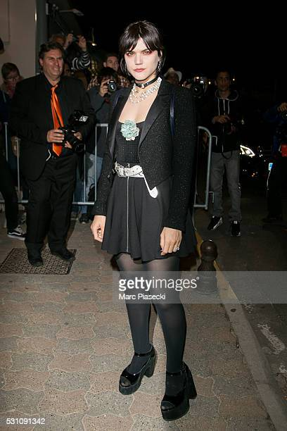 Actress and singer Stephanie Sokolinski aka SoKo arrives to attend the 'Vanity Fair and Chanel' party during the annual 69th Cannes Film Festival at...