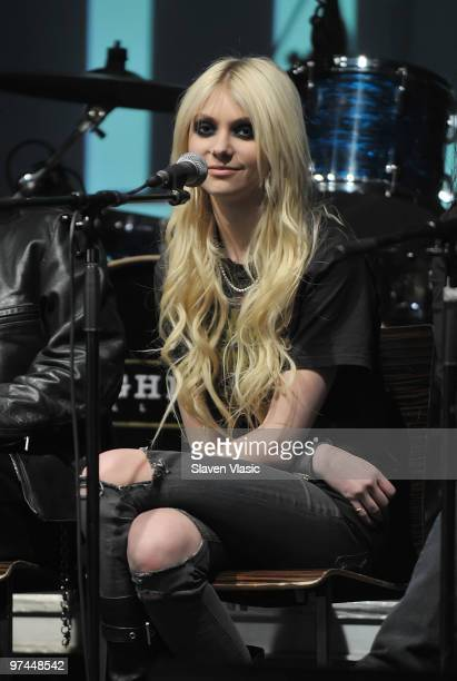 Actress and singer Taylor Momsen attends the BMI Industry Insider's 'How I Produced The Record' panel and performance at the Highline Ballroom on...