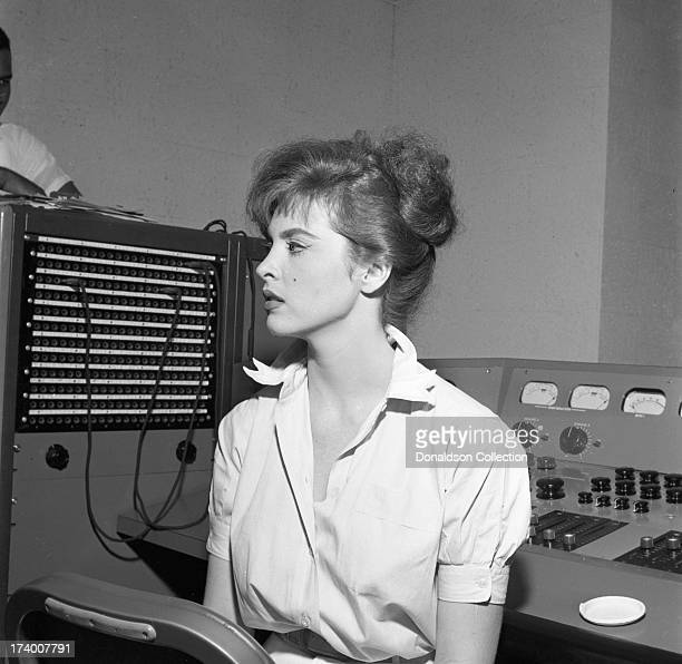 Actress and singer Tina Louise records her only album 'It's Time For Tina' which was recorded on July 19 1957 at the CC Club in New York New York