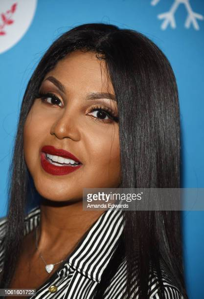Actress and singer Toni Braxton attends the opening night celebration of the LifeSized Gingerbread House Experience at The Grove with the Stars of...