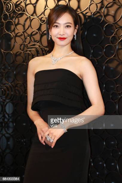 Actress and singer Victoria Song promotes jewelry brand Damiani on May 17 2017 in Shanghai China