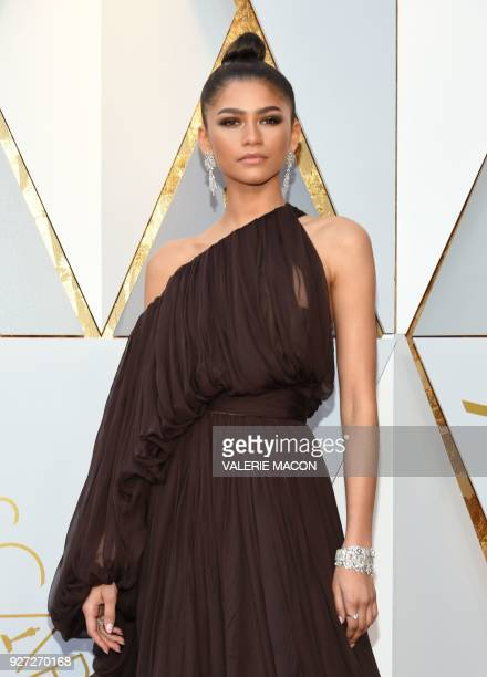 Actress and Singer Zendaya arrives for the 90th Annual Academy Awards on March 4 in Hollywood, California. / AFP PHOTO / VALERIE MACON