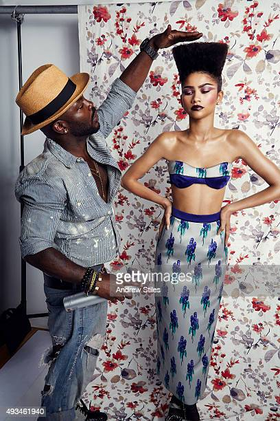 Actress and singer Zendaya is photographed for Mane Addicts on August 18 2015 in Los Angeles California