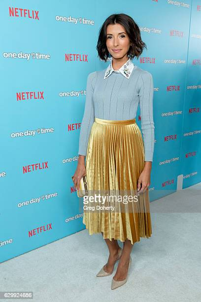 Actress and Singersongwriter India de Beaufort arrives for the Premiere Of Netflix's One Day At A Time at The London West Hollywood at Beverly Hills...