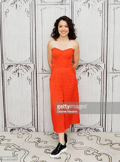 Actress and star of 'Orphan Black' Tatiana Maslany discusses the Canadian science fiction thriller television series 'Orphan Black' during AOL Build...