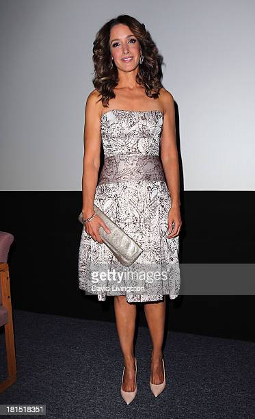 Actress and star of the film Jennifer Beals attends a Flashdance 30th anniversary screening at the Aero Theatre on September 21 2013 in Santa Monica...