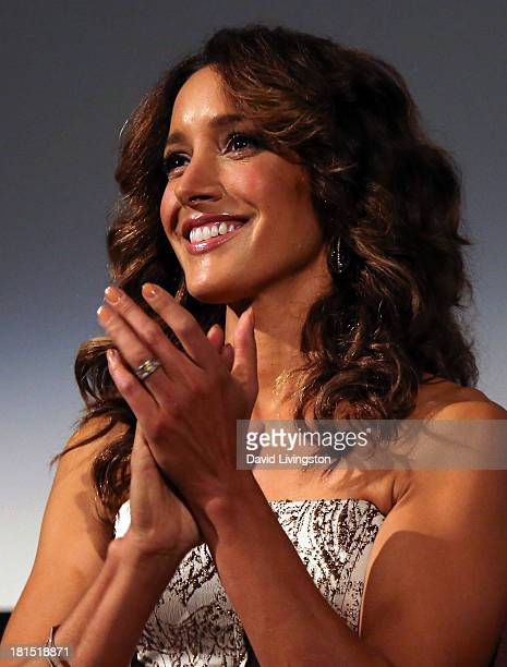 Actress and star of the film Jennifer Beals attends a QA following a Flashdance 30th anniversary screening at the Aero Theatre on September 21 2013...