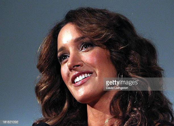 Actress and star of the film Jennifer Beals attends a QA following a 'Flashdance' 30th anniversary screening at the Aero Theatre on September 21 2013...
