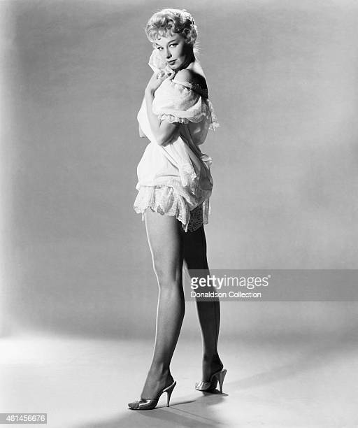 Actress and stripper Lili St Cyr poses for a publicty photo for the film 'Son of Sinbad' in 1953 in Los Angeles California /Getty Images