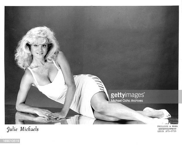 Actress and stunt performer Julie Michaels poses for a portrait in circa 1990