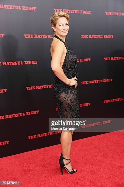 Actress and stuntwoman Zoe Bell attends the The New York Premiere Of 'The Hateful Eight' on December 14 2015 in New York City