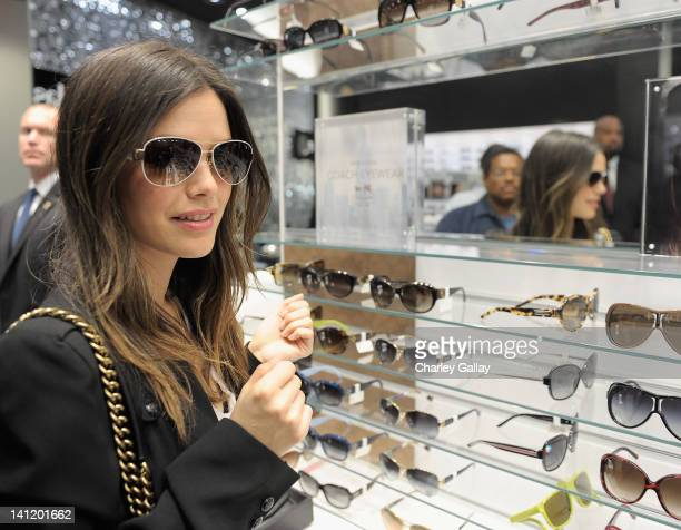 Actress and Sunglass Hut Style Director Rachel Bilson celebrates spring styles at Sunglass Hut on the Third Street Promenade on March 12 2012 in...