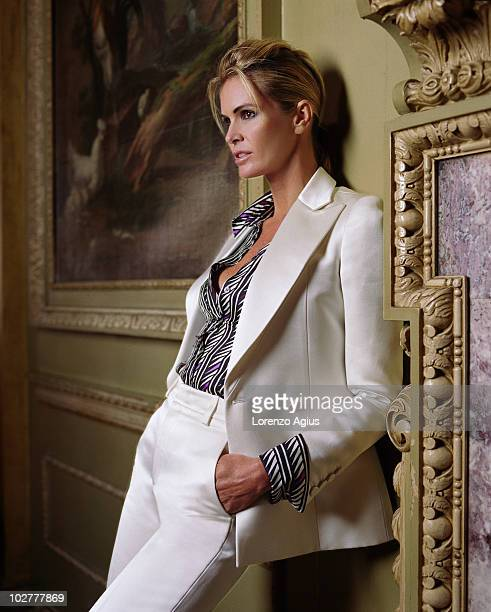 Actress and supermodel Elle MacPherson poses for a portrait shoot in London UK