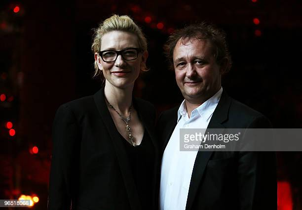 Actress and Sydney Theatre Company coartistic director Cate Blanchett and husband and coartistic director Andrew Upton attend the opening night of...