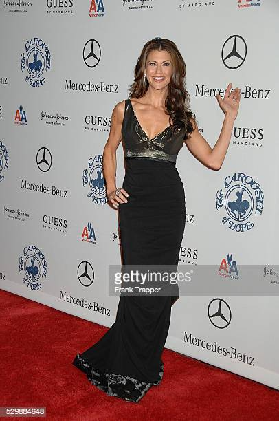 Actress and television personality Samantha Harris arrives at he 30th anniversary Carousel of Hope Ball to benefit The Barbara Davis Center for...