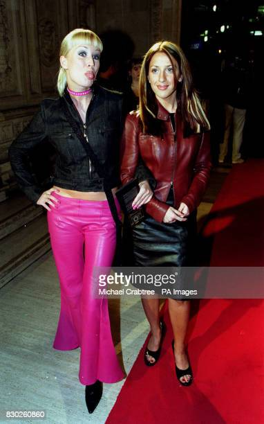 Actress and television presenter Denise Van Outen arriving for the MOBO Awards at London's Royal Albert Hall