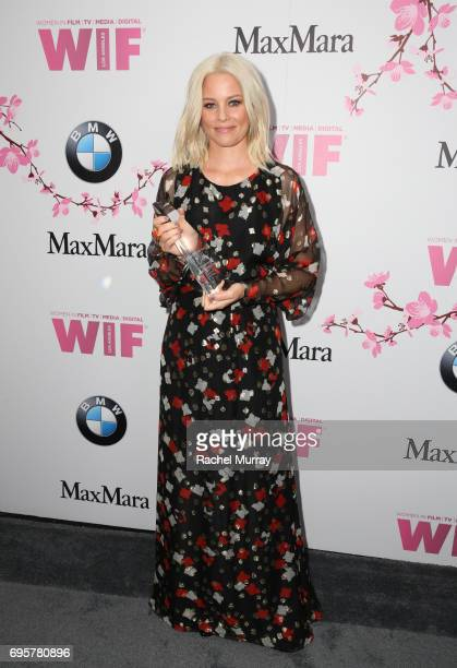 Actress and The Crystal Award for Excellence in Film Honoree Elizabeth Banks wearing Max Mara attends the Women In Film 2017 Crystal Lucy Awards...