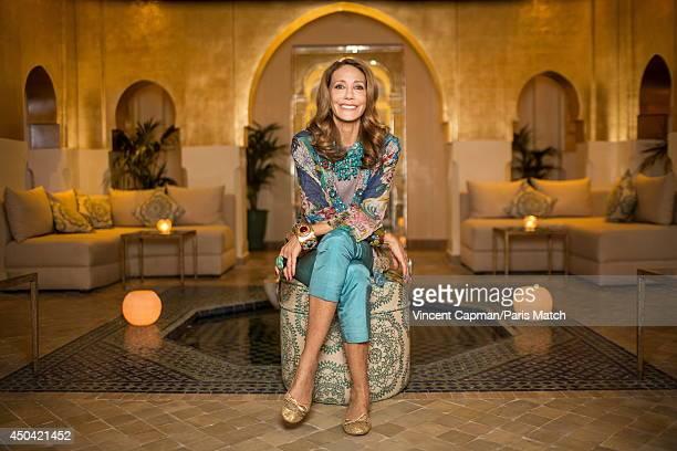 Actress and the designer of the SPA Sofitel Marrakech Marisa Berenson is photographed for Paris Match on December 04 2013 in Marrakech Morocco