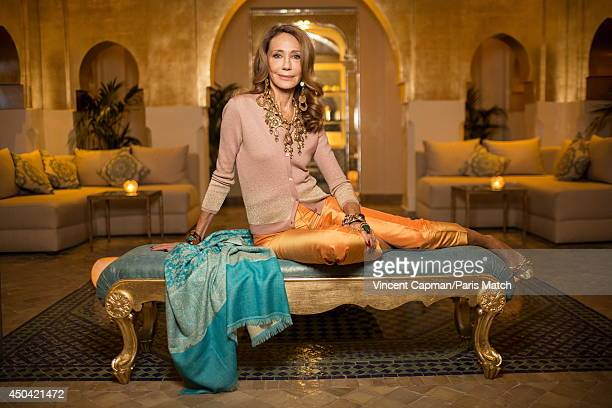 Actress and the designer of the SPA Sofitel Marrakech, Marisa Berenson is photographed for Paris Match on December 04, 2013 in Marrakech, Morocco.