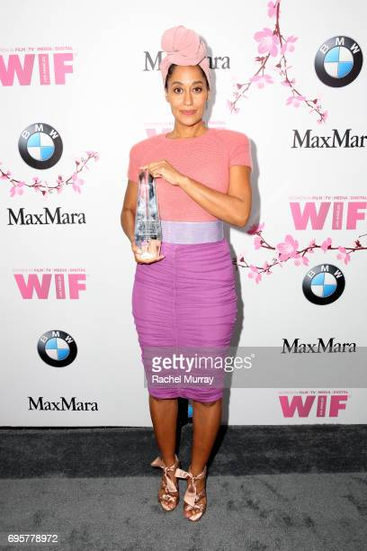 Actress and The Lucy Award for Excellence in Television Honoree Tracee Ellis Ross wearing Max Mara attends the Women In Film 2017 Crystal Lucy Awards...