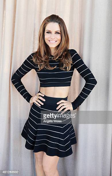 Actress and TV host Maria Menounos poses for a portrait at the Launch Party For 'The EveryGirl's Guide To Diet Fitness' on June 10 2014 in Beverly...