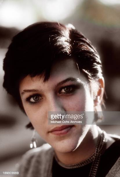 Actress and TV personality Allegra Curtis poses for a portrait at home in January 1982 in Los Angeles California