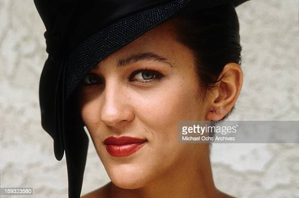 Actress and TV personality Allegra Curtis poses for a portrait in 1988 in Los Angeles California