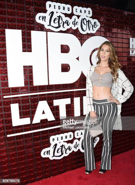 Actress and TV personality Carmen Carrera attends HBO Latino x Pedro Capo En Letra de Otro at La Marina Restaurant Bar Beach Lounge on August 9 2017...