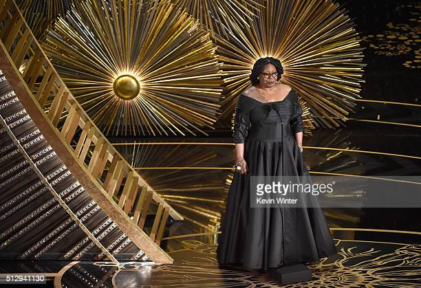 Actress and TV personality Whoopi Goldberg speaks onstage during the 88th Annual Academy Awards at the Dolby Theatre on February 28, 2016 in...