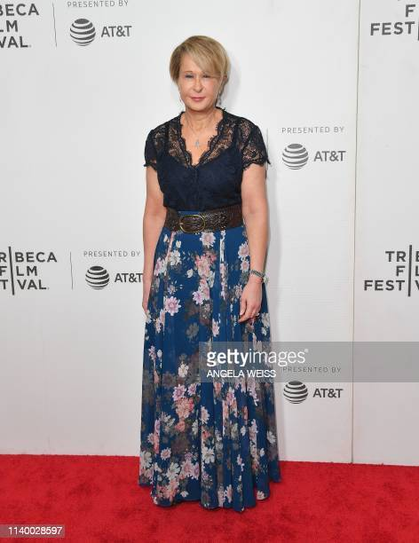 """Actress and voice of 'Lisa Simpson' Yeardley Smith attends """"The Simpsons"""" 30th Anniversary celebration during the 2019 Tribeca Film Festival at BMCC..."""