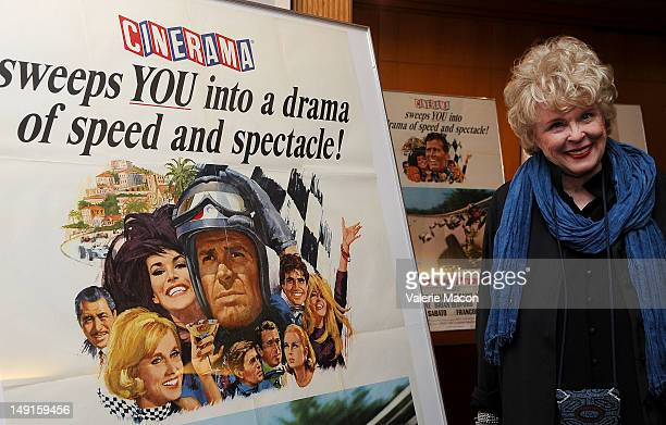 Actress and wife of the director Evans Evans Frankenheimer attends The Academy Of Motion Picture Arts And Sciences' Last 70mm Film Festival Screening...